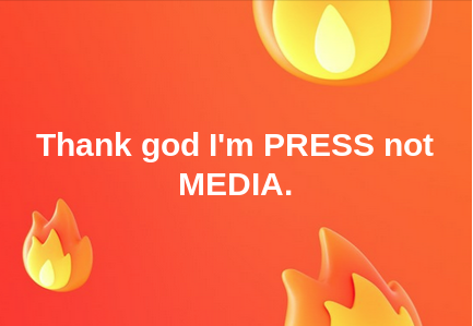 The difference between PRESS and MEDIA